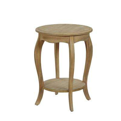 Moraes Weathered White Side Table