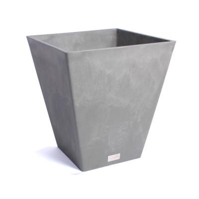 Nobleton 22 in. Square Charcoal Plastic Planter