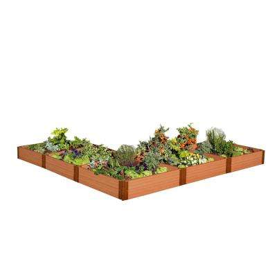 1 in. Profile Tool-Free Classic Sienna 12 ft. x 12 ft. x 11 in. L-Shaped Raised Garden Bed