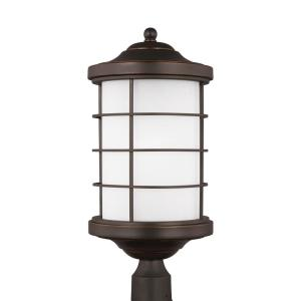 Sea Gull Lighting Sauganash 1-Light Outdoor Antique Bronze Post Light with LED... by Sea Gull Lighting