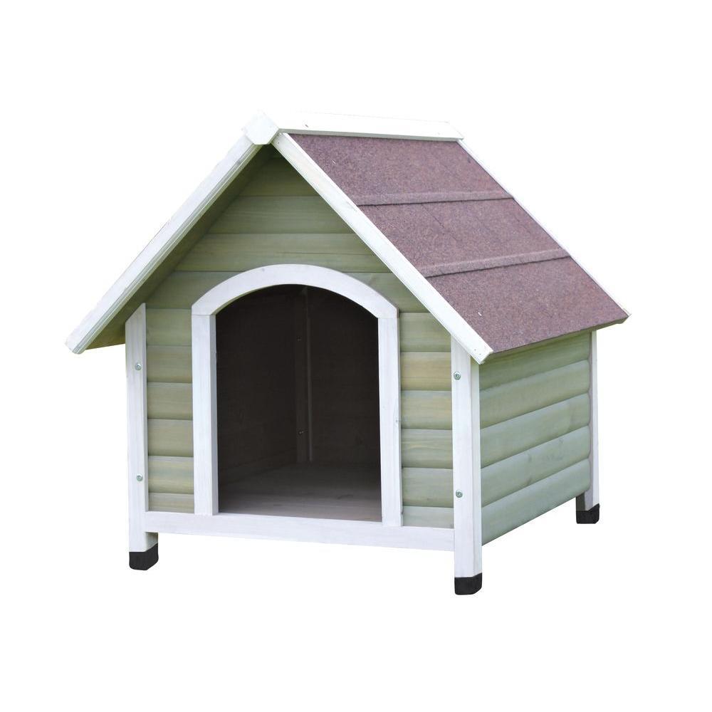 Nantucket Medium Dog House in Gray/White