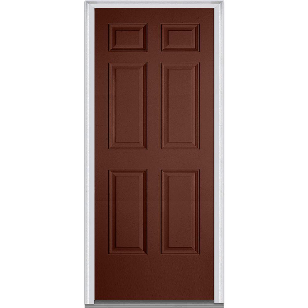 Fiberglass Exterior Doors: MMI Door 30 In. X 80 In. Right-Hand Inswing 6-Panel