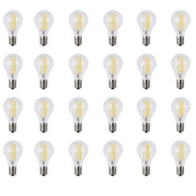 40W Equivalent Soft White (2700K) A15 Intermediate Dimmable Filament Clear Glass LED Ceiling Fan Light Bulb (24-Pack)