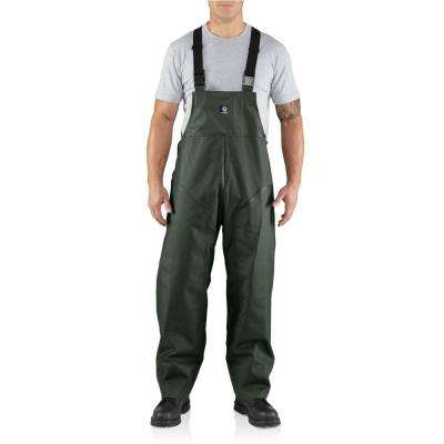 Men'S Medium Tall Green PVC/Polyester Surrey Bib Overalls