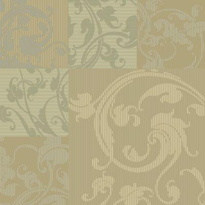 The Wallpaper Company 56 sq.ft. Beige, Taupe, Grey and Metallics Acanthus Leaf Wallpaper-DISCONTINUED