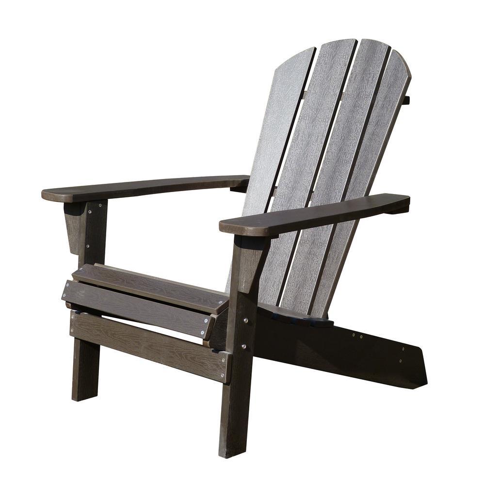 Faux Wood Espresso Adirondack Chair