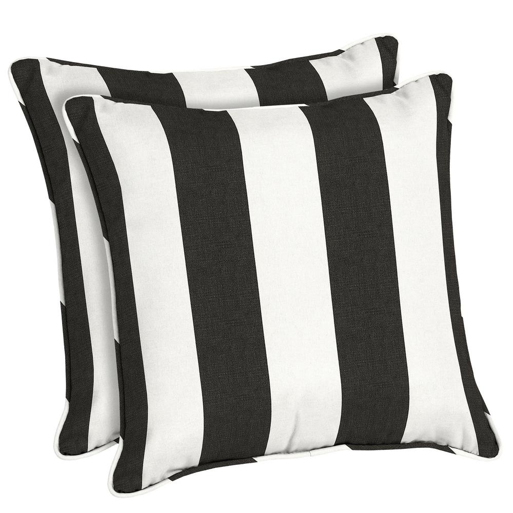 Charmant Home Decorators Collection Sunbrella Cabana Classic Square Outdoor Throw  Pillow (2 Pack)