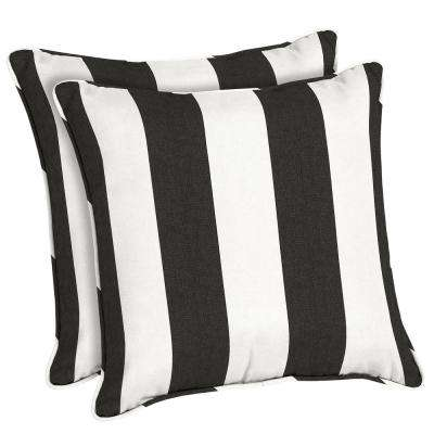 Sunbrella Cabana Classic Square Outdoor Throw Pillow (2-Pack)