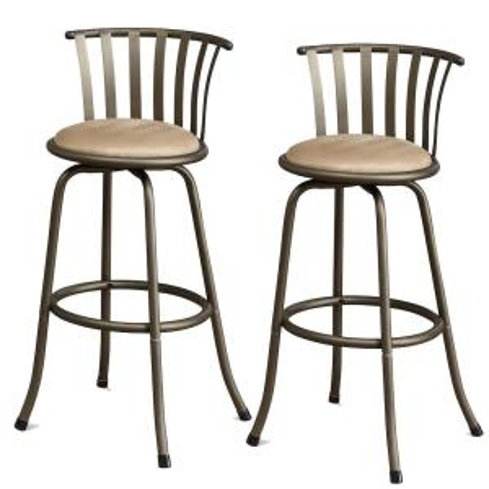 Fantastic Benjara Stunning Metal And Microfiber Gold Cushion Swivel Dailytribune Chair Design For Home Dailytribuneorg