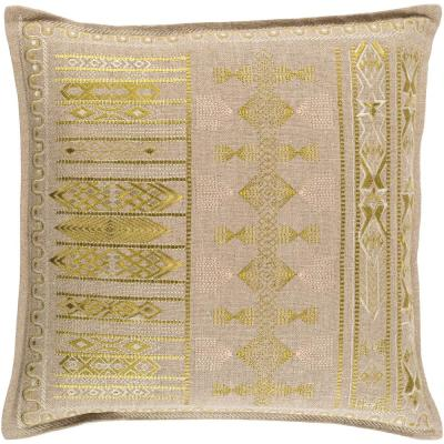 Elystan Lime Graphic Polyester 22 in. x 22 in. Throw Pillow