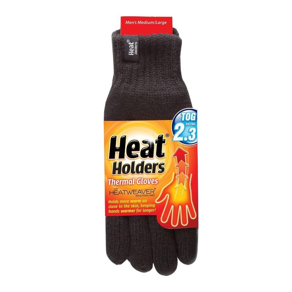 Men's Large Black Thermal Gloves