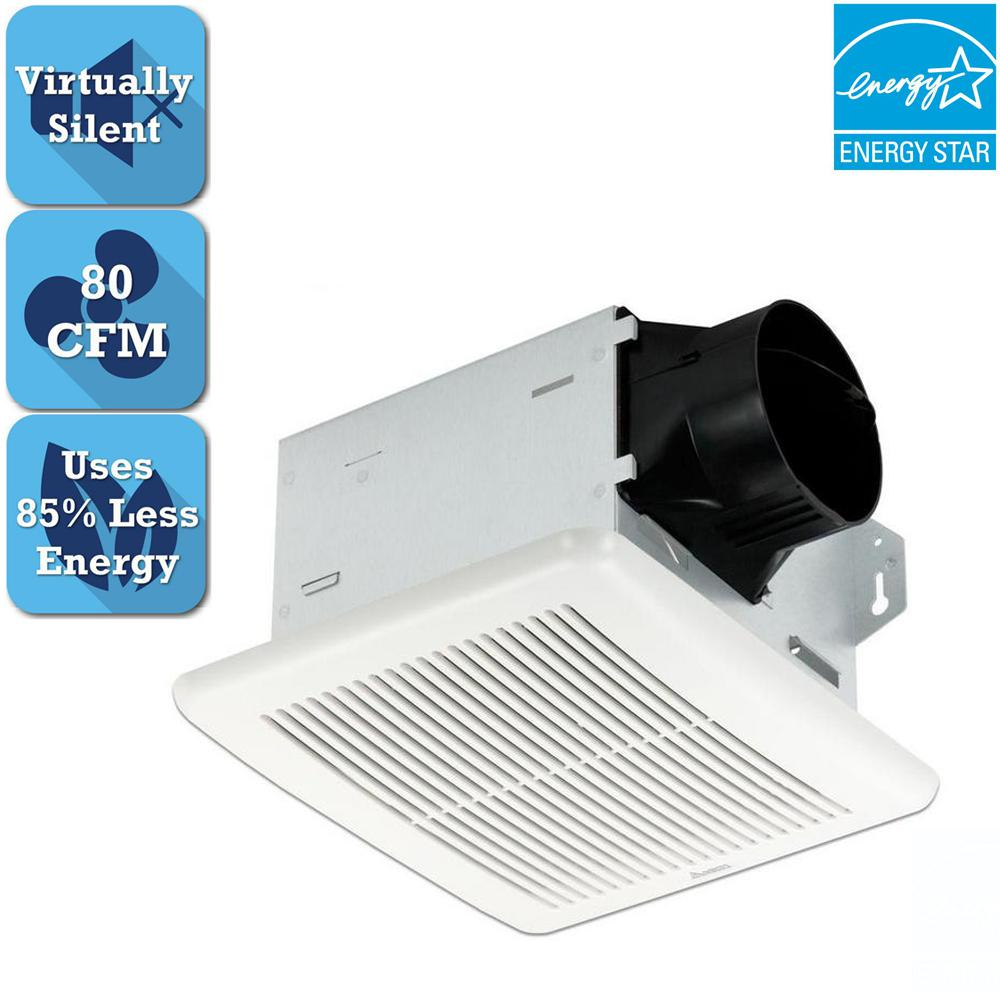 Integrity Series 80 CFM Ceiling Bathroom Exhaust Fan, ENERGY STAR*