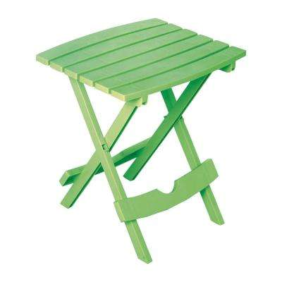Quik-Fold Summer Green Resin Plastic Outdoor Side Table