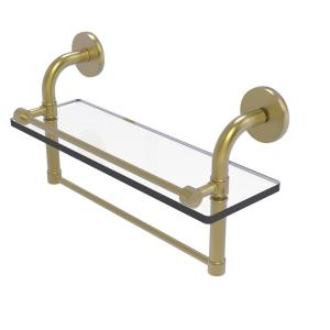 Allied Brass Remi Collection 16 In Gallery Glass Shelf With Towel Bar In Satin Brass Rm 1 16tb Gal Sbr The Home Depot