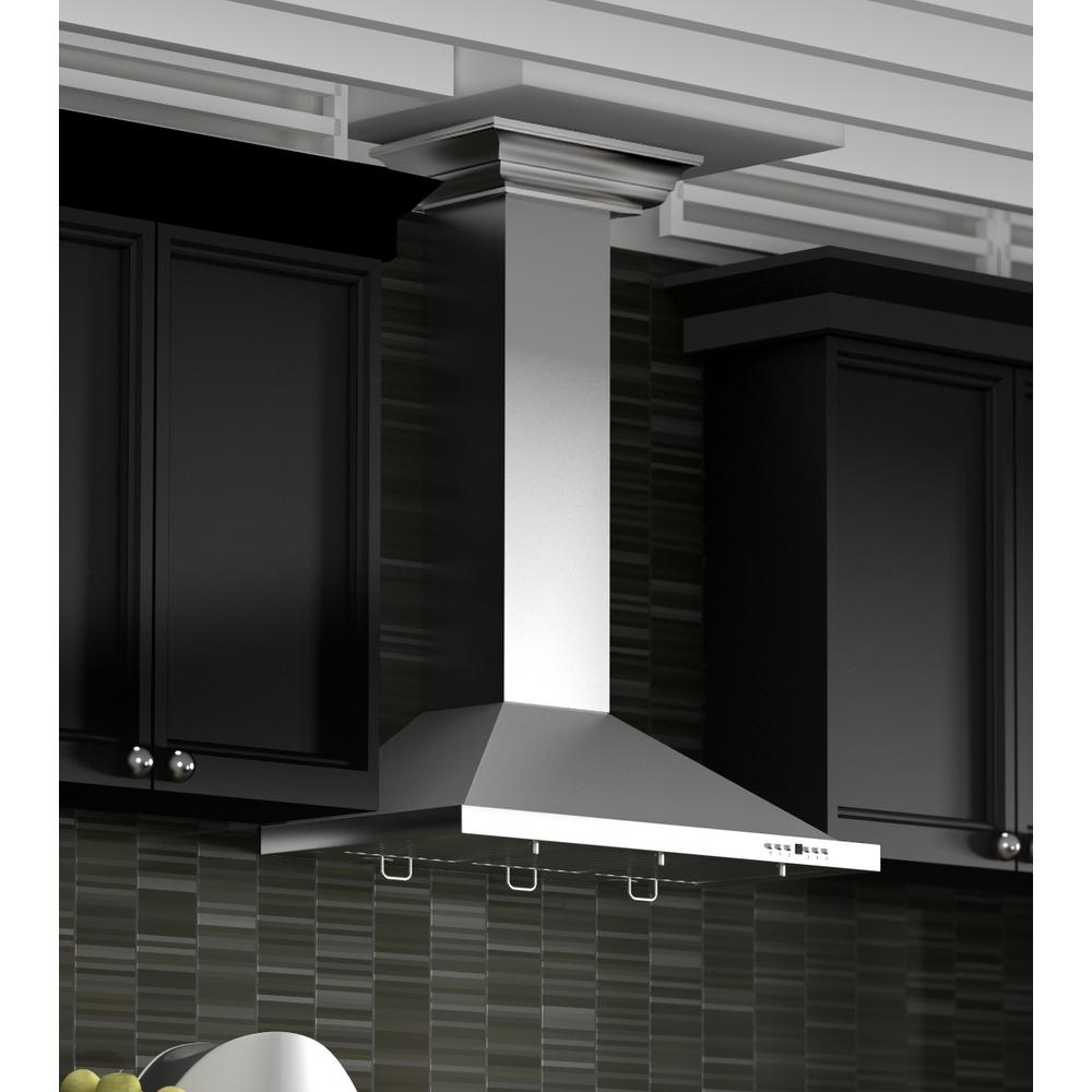 Zline Kitchen And Bath 30 In 760 Cfm Wall Mount Range Hood Stainless Steel With Crown Molding