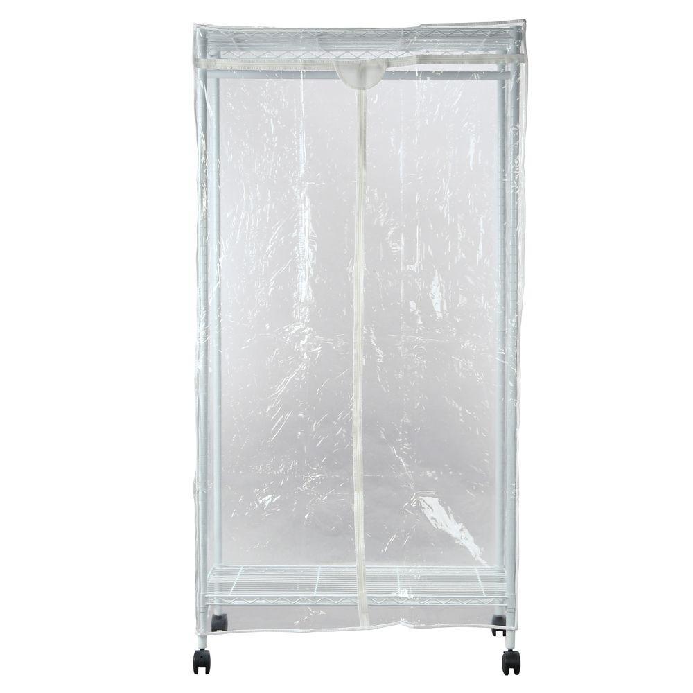 Whitmor Portable Wardrobe Clothes Closet Storage Organizer With