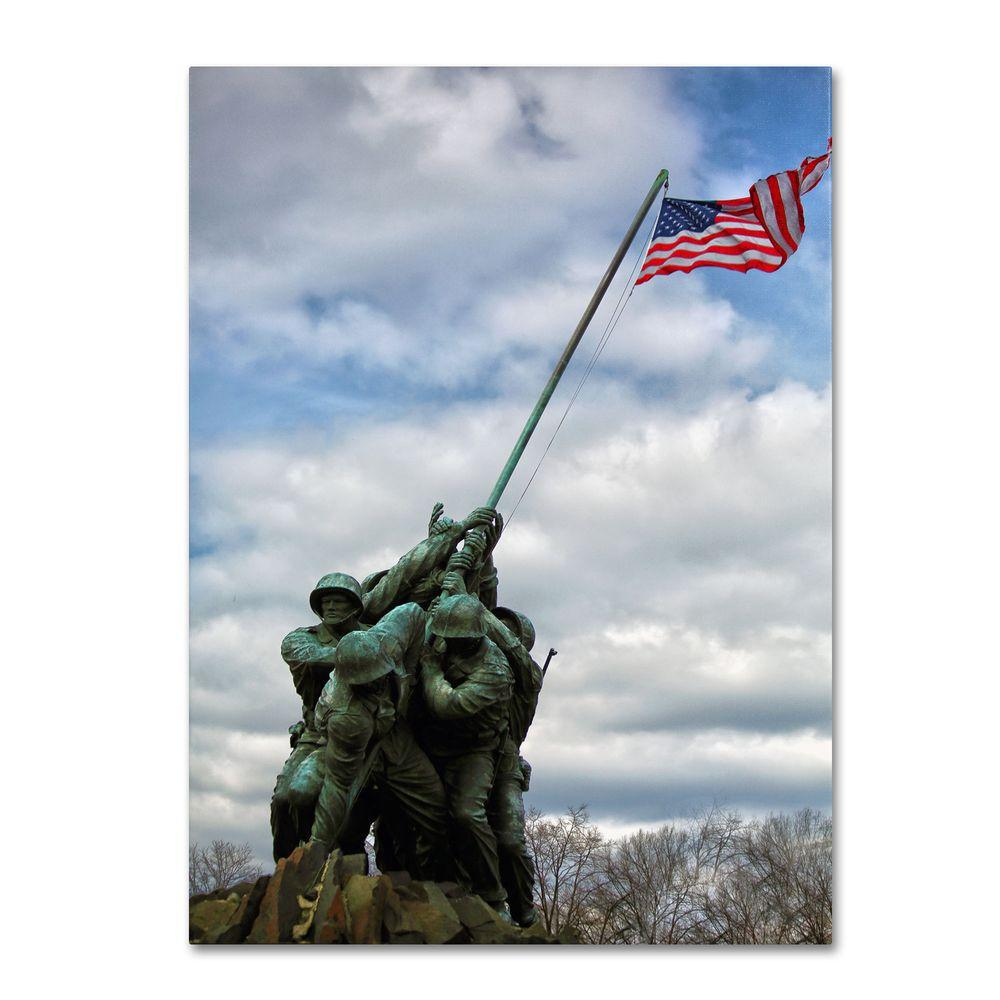 Trademark Fine Art 30 in. x 47 in. Marine Corps Memorial 2 Canvas Art