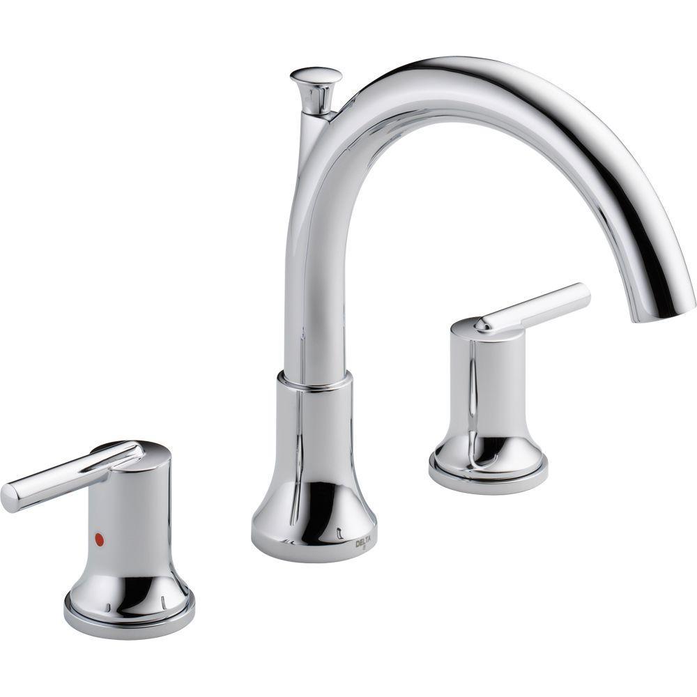 Trinsic 2-Handle Deck-Mount Roman Tub Faucet in Chrome