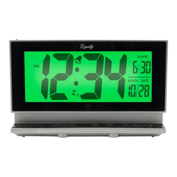 Large 2 in. LCD Alarm Table Clock with Night Vision Technology