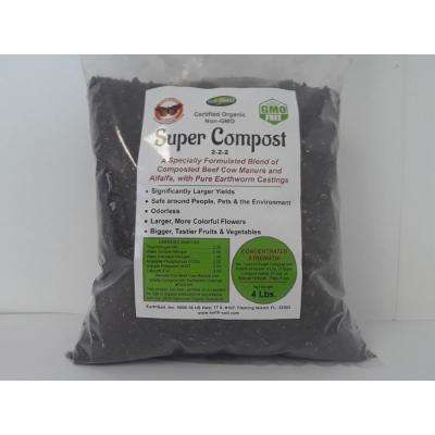 Soilblend Super Compost Organic Mix Concentrated Organic Plant Food (4 lbs. Makes 20 lbs.) 2-2-2 NPK