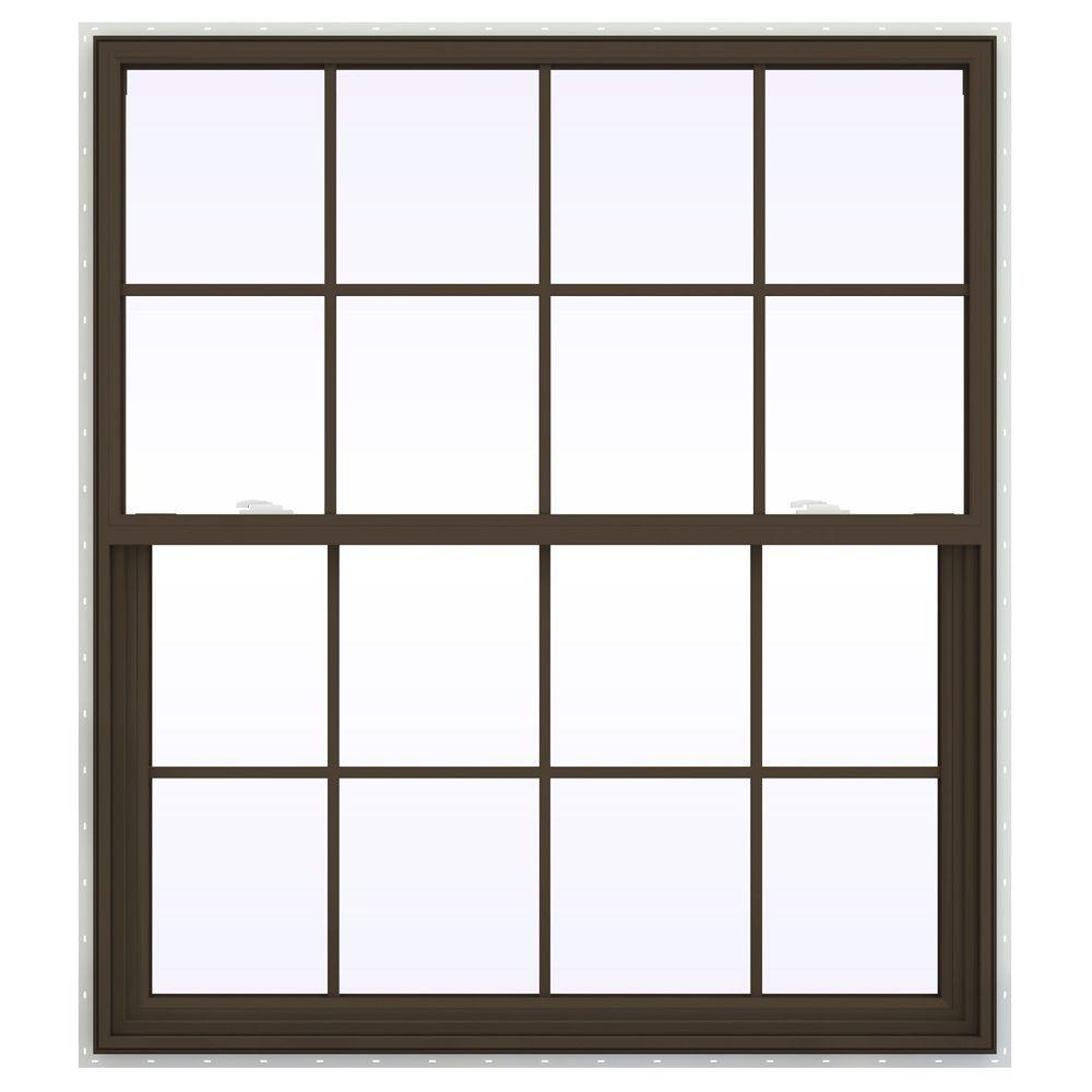 47.5 in. x 59.5 in. V-2500 Series Single Hung Vinyl Window