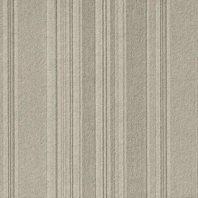 Premium Self-Stick First Impressions Barcode Rib Dove Texture 24 in. x 24 in. Carpet Tile (15 Tiles/60 sq. ft./case)