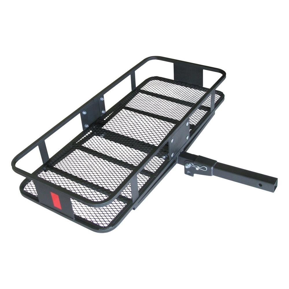Trailer Hitch Carrier >> Hitchmate Deluxe 350 Lb Capacity Fold Up 2 In Cargo Carrier