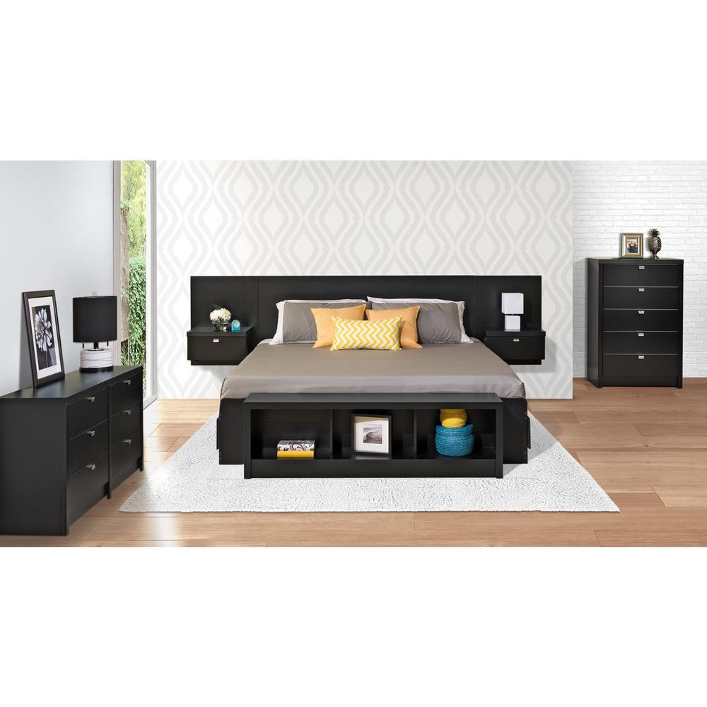 Prepac Series 9 1 Piece Black King Bedroom Set Bhhk 0520 2k The Home Depot,Home Landscape Design In Nigeria