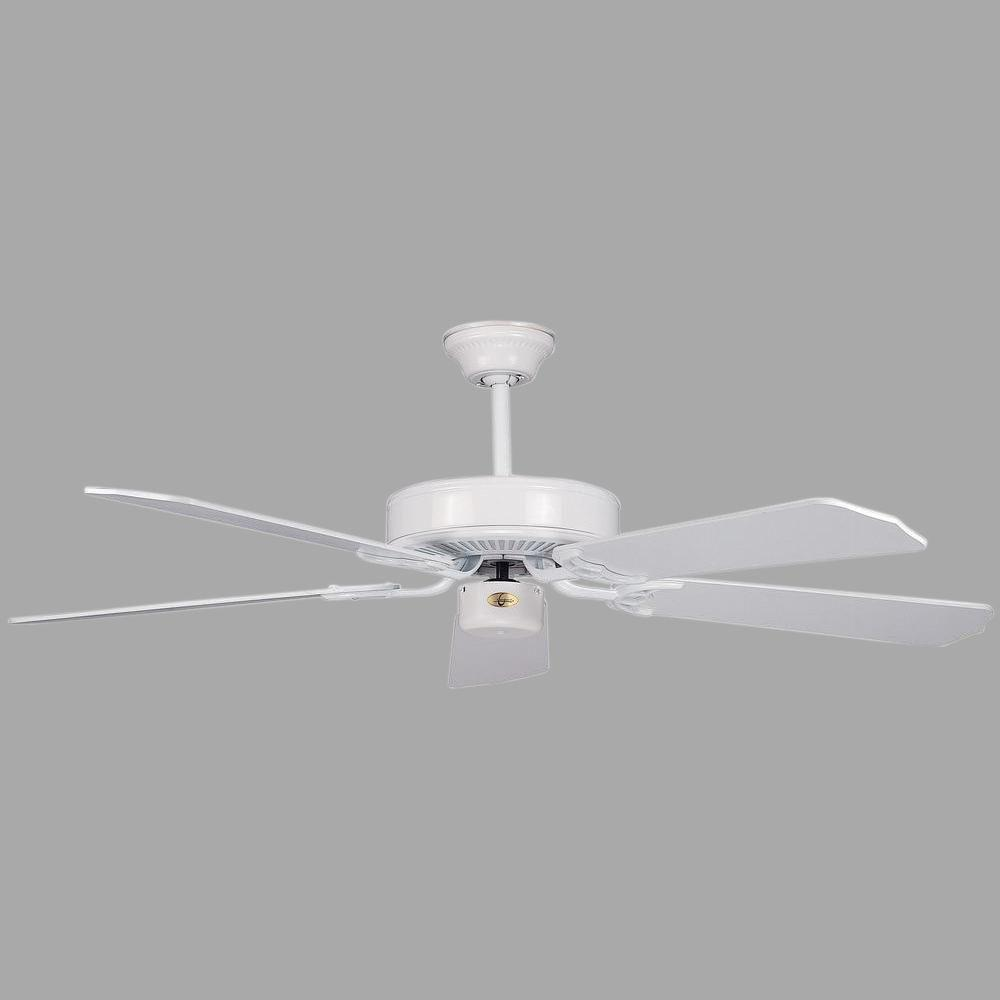 California Home Series 52 in. Indoor White Ceiling Fan