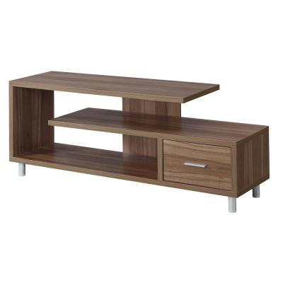 Seal II 59 in. Cappuccino Particle Board TV Console with 1 Drawer Fits TVs Up to 65 in. with Cable Management