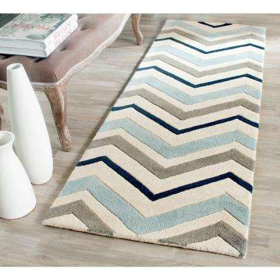 Chatham Ivory/Dark Grey 2 ft. x 11 ft. Runner Rug