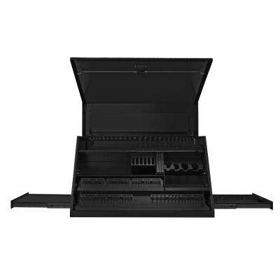 41 in. Deluxe Portable Workstation with Computer Drawer and Pull-Out Shelf, Textured Black