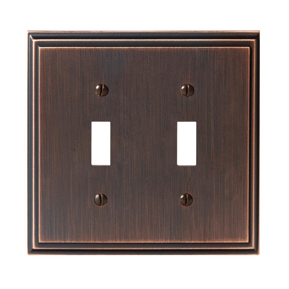 Mulholland 2-Toggle Wall Plate, Oil-Rubbed Bronze