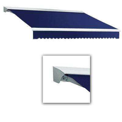12 ft. Destin-LX with Hood Manual Retractable Awning (120 in. Projection) in Navy