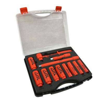 1000-Volt Insulated 1/2 in. Drive Deep Socket Set (11-Piece)