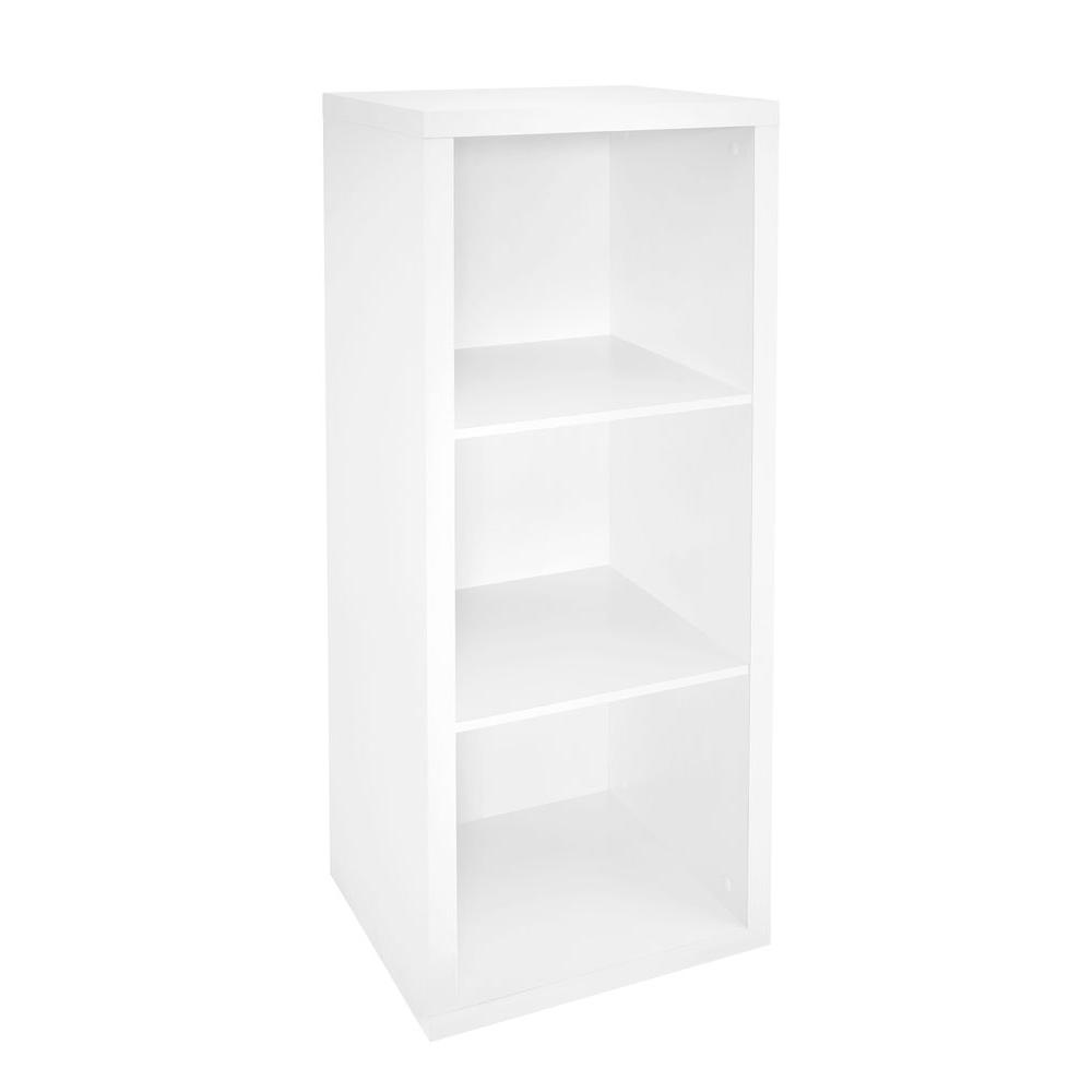Admirable Closetmaid 16 In W X 44 In H Decorative White 3 Cube Organizer Short Links Chair Design For Home Short Linksinfo