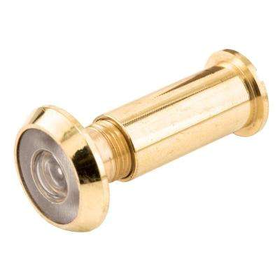 200-Degree Solid Brass Glass Lens Door Viewer