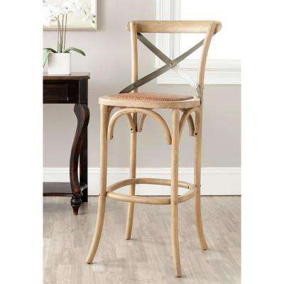 Safavieh Eleanor 30.7 inch Weathered Oak Bar Stool by Oak Bar Stools