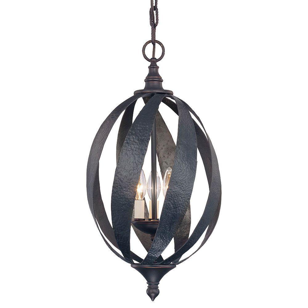 3-Light Slate Hanging/Ceiling Pendant