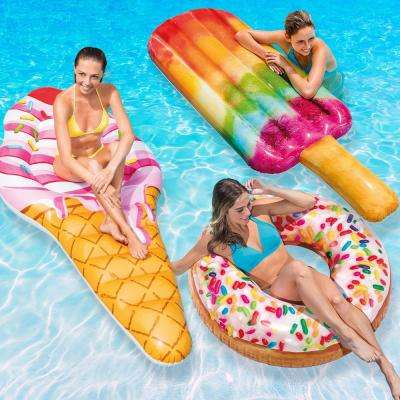 Ice Cream Mat, Popsicle Float and Sprinkle Donut Tube Pool Float Combo Pack