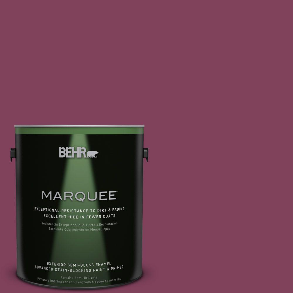 BEHR MARQUEE Home Decorators Collection 1-gal. #hdc-WR14-12 Cheerful Wine Semi-Gloss Enamel Exterior Paint, Reds/Pinks