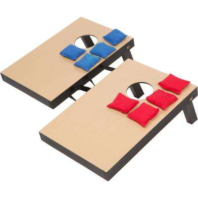 10-1/4 in. x 15-1/2 in. Miniature Indoor Desktop Bean Bag Toss Corn-Hole Game