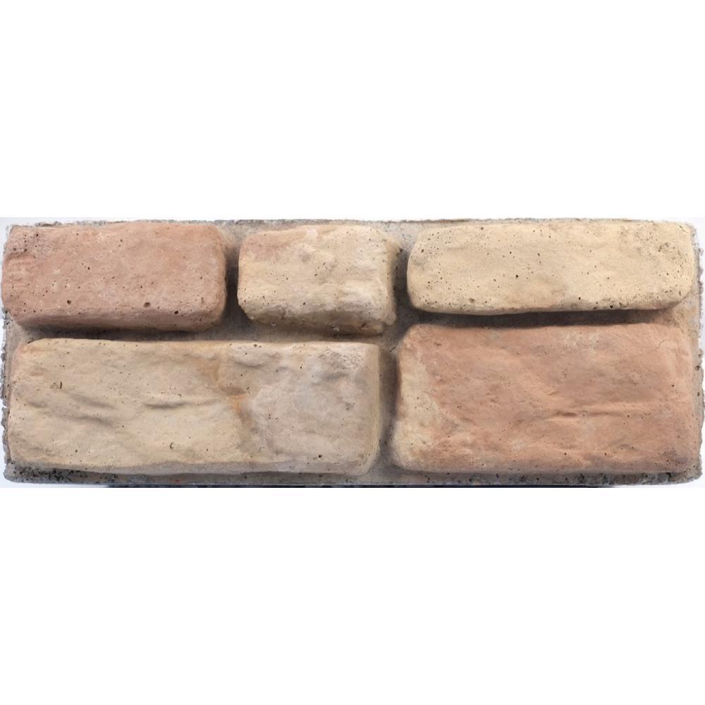 Panama 8.25 in. x 16 in. x 6 in. Brown Concrete Retaining Wall Garden Block