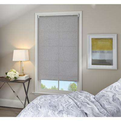 Cut-to-Width Twilight Grey Light Filtering Cordless Roller Shade - 47 in. W x 64 in. L (Actual size 47 in. W x 64 in. L)