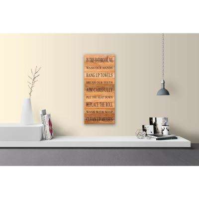 IN THIS BATHROOM Reclaimed Wood Decorative Sign