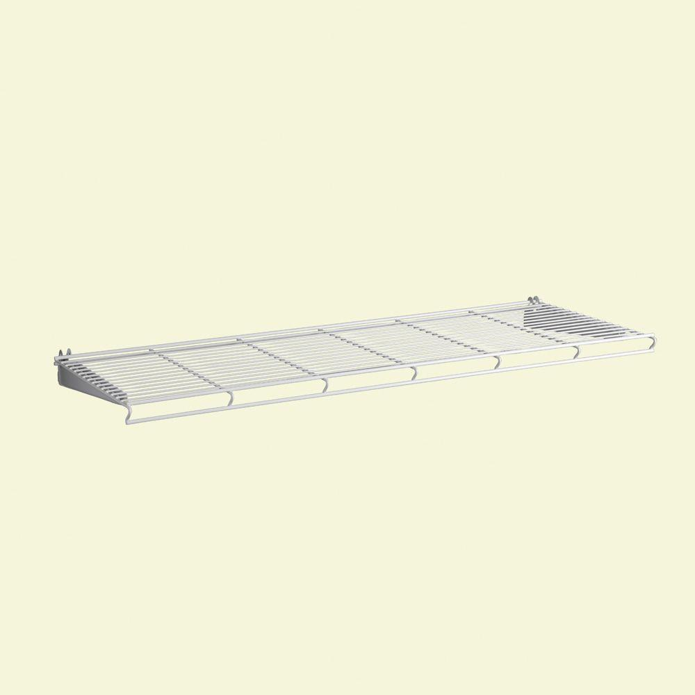 ShelfTrack 36 in. White Wire Book Shelf