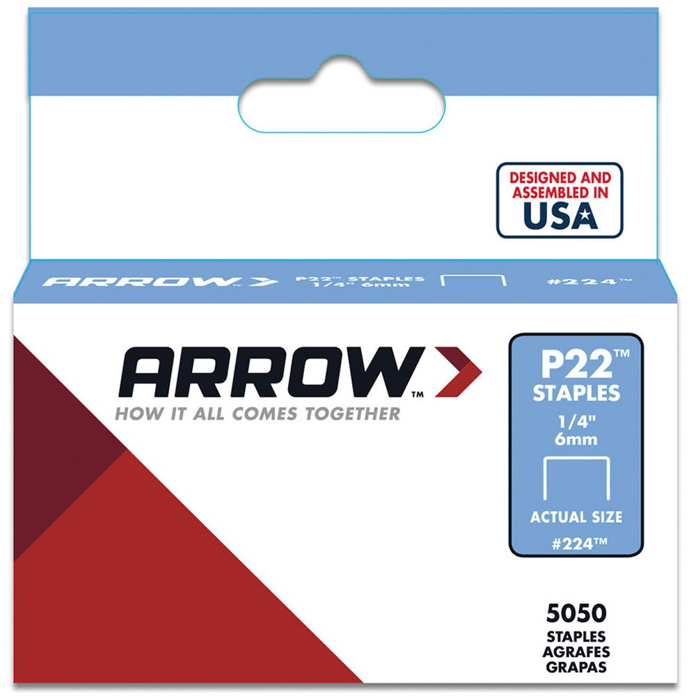P22 1/4 in. Staples (5,050-Pack)