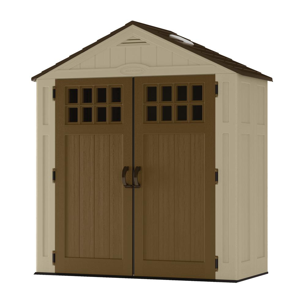 Suncast Everett 2 ft. 9 in. x 6 ft. 2.75 in. Resin Storage Shed