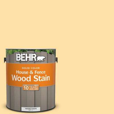1 gal. #310A-3 Manila Tint Solid Color House and Fence Exterior Wood Stain