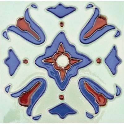 Hand-Painted Ceramic Santa Fe 6 in. x 6 in. x 6.35 mm Glazed Ceramic Wall Tile (2.5 sq. ft. / case)